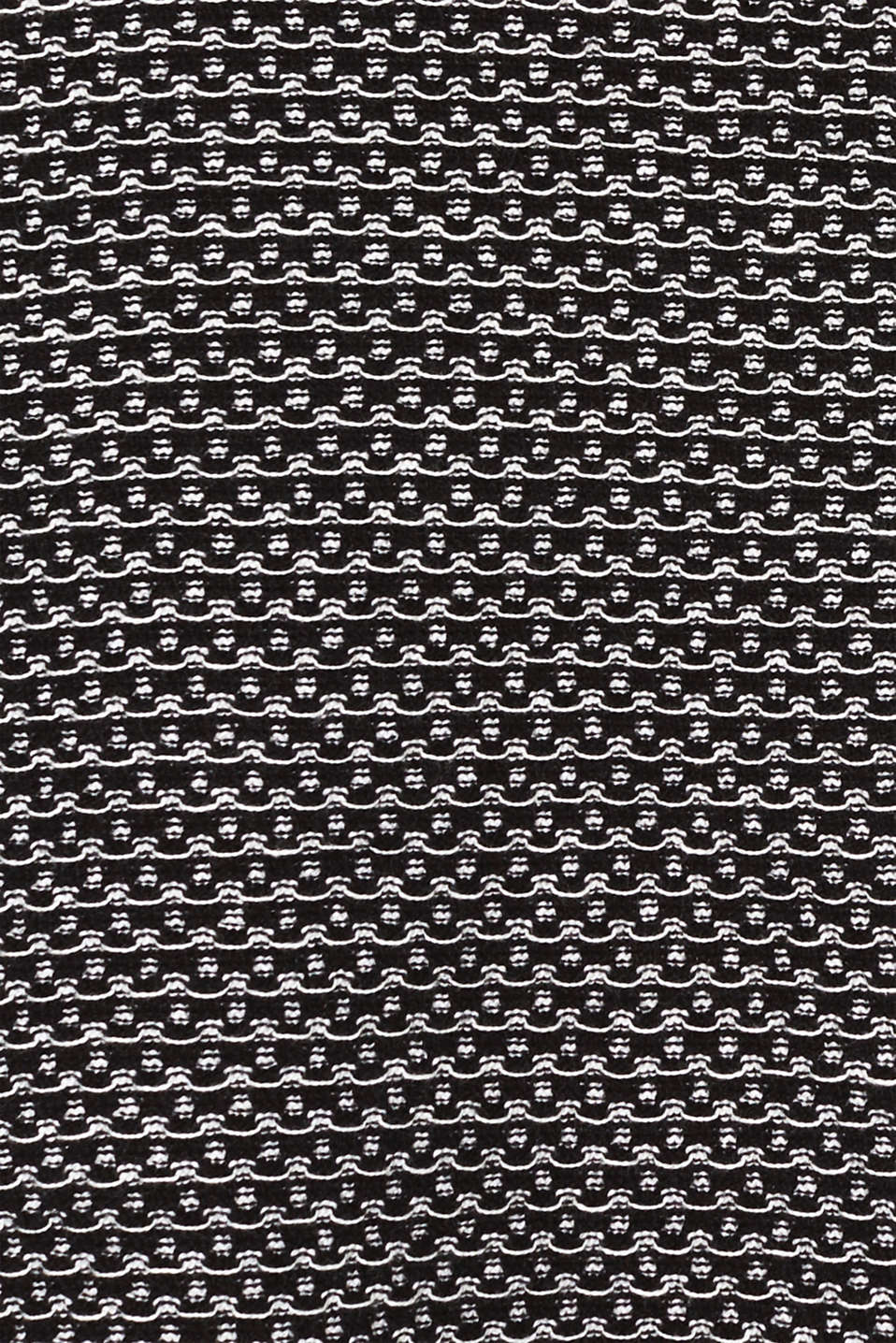 Knit dress with texture, 100% cotton, BLACK 2, detail image number 4