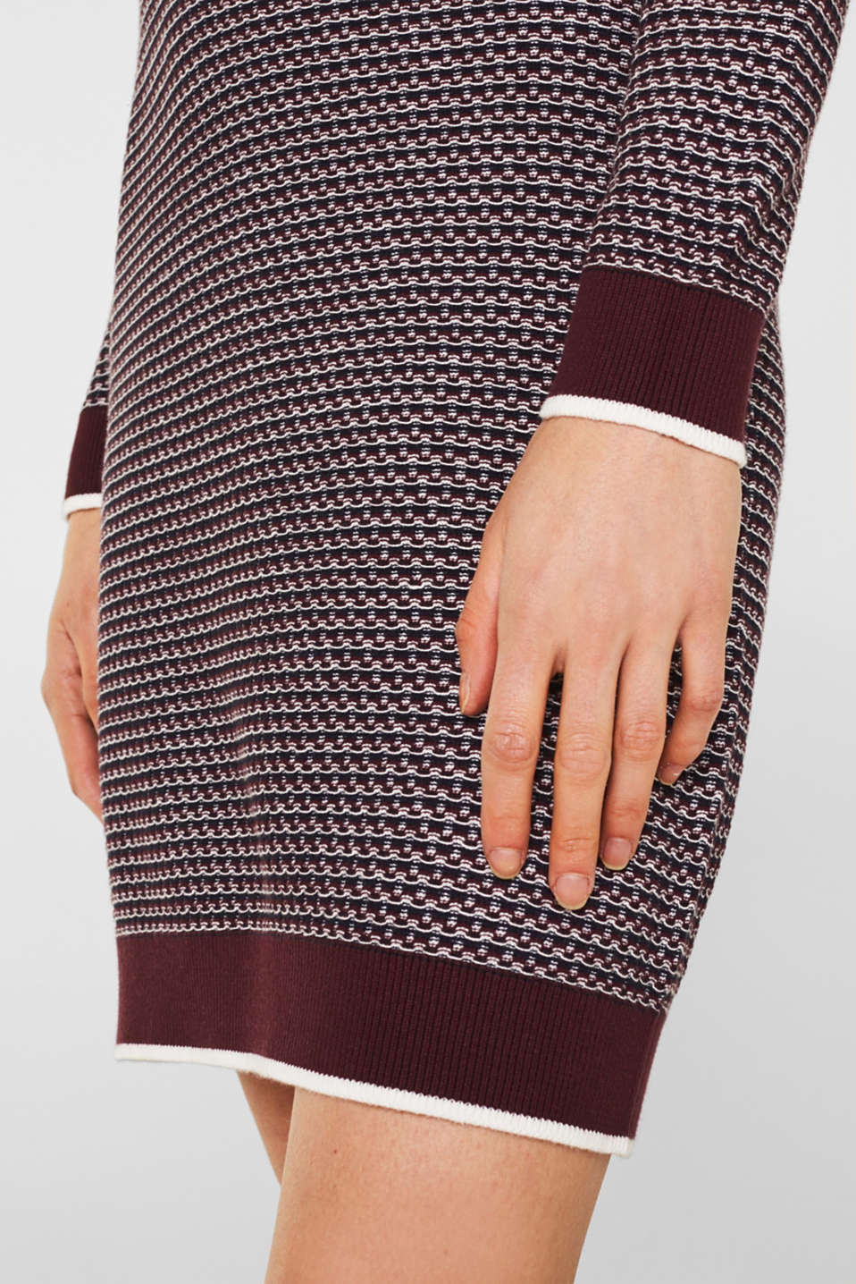 Dresses flat knitted, BORDEAUX RED 2, detail image number 3