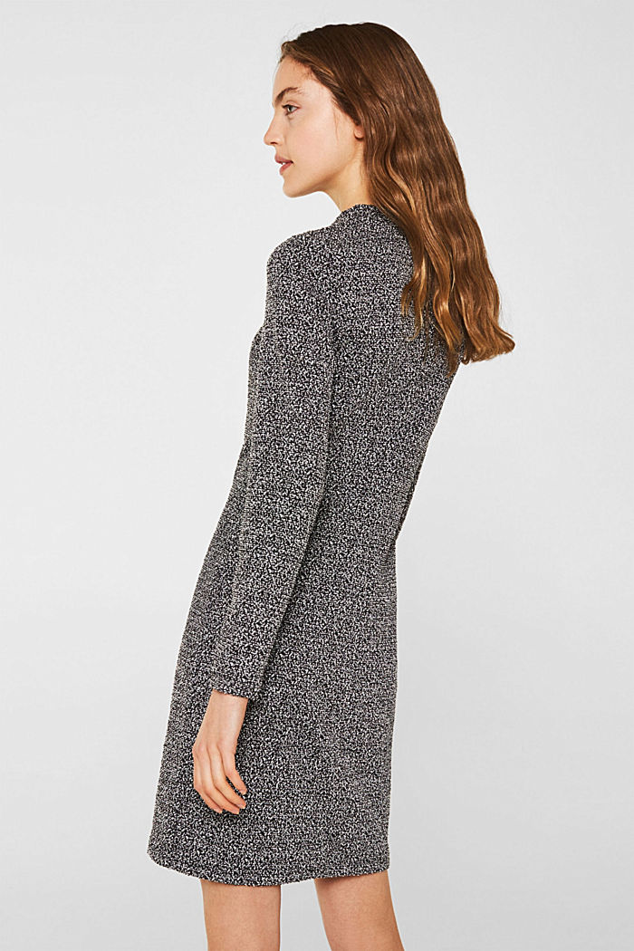 Sheath dress with a popcorn texture, BLACK, detail image number 2