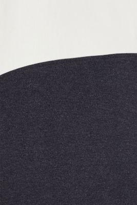 Sweatshirt dress with a funnel collar