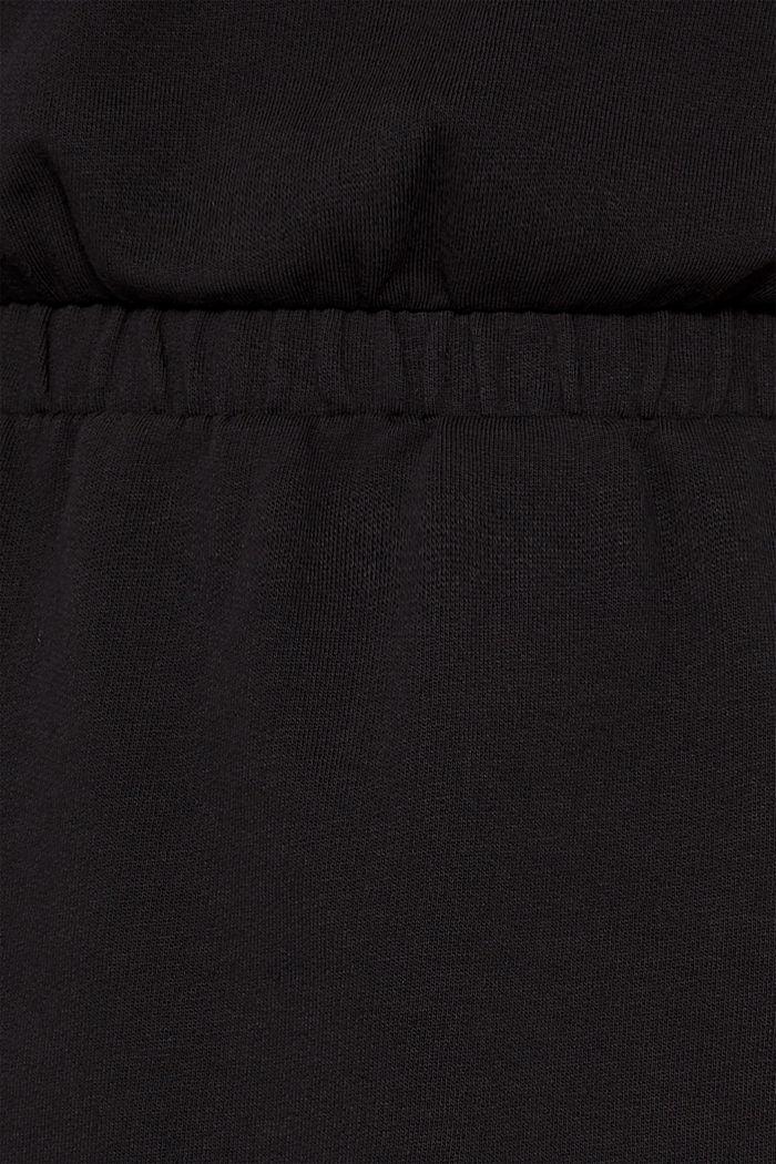 100% cotton sweatshirt dress, BLACK, detail image number 4