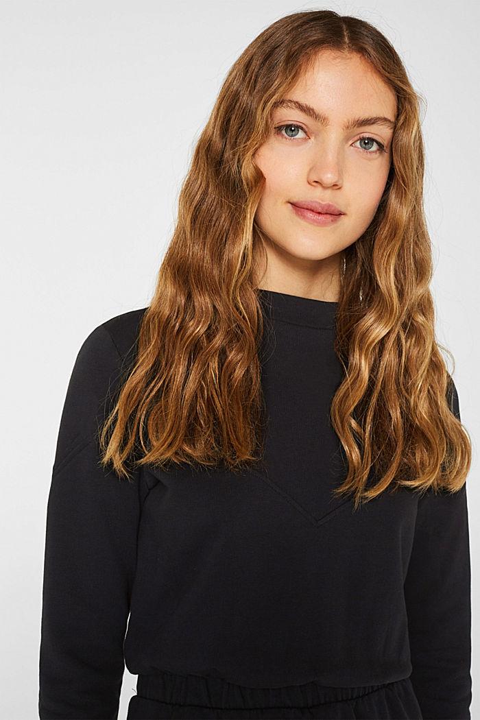 100% cotton sweatshirt dress, BLACK, detail image number 5