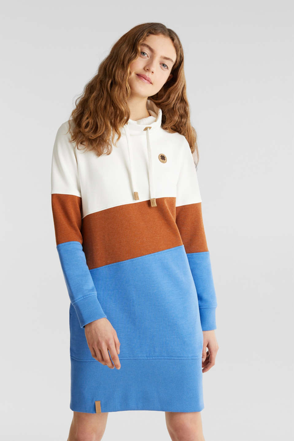 edc - Sweatshirt dress with colour blocking