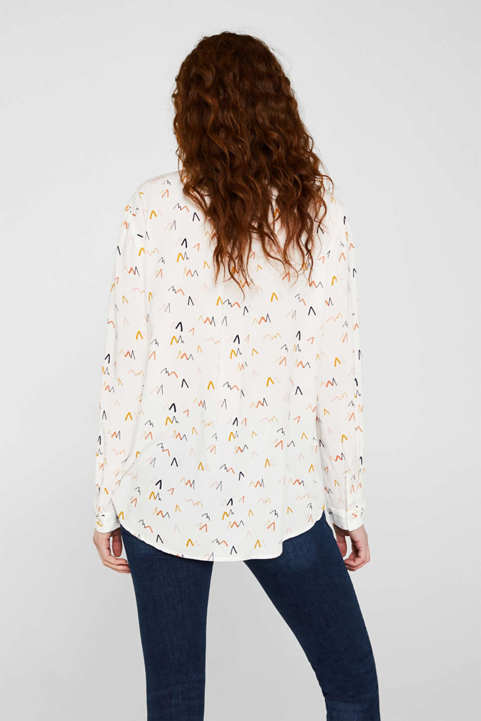 Henley blouse with LENZING™ ECOVERO™, OFF WHITE 4, detail image number 2