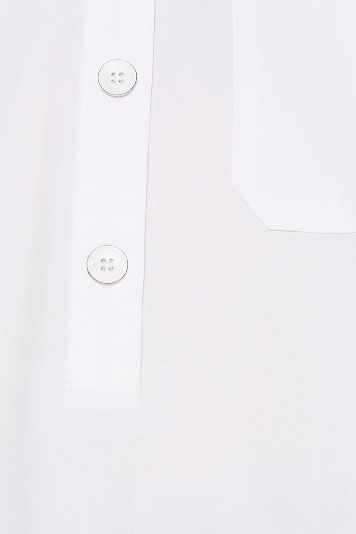 Oversized-Bluse mit Chambray-Details, WHITE, detail image number 4