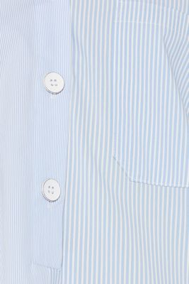 Oversized stretch blouse with mixed stripes, PASTEL BLUE, detail