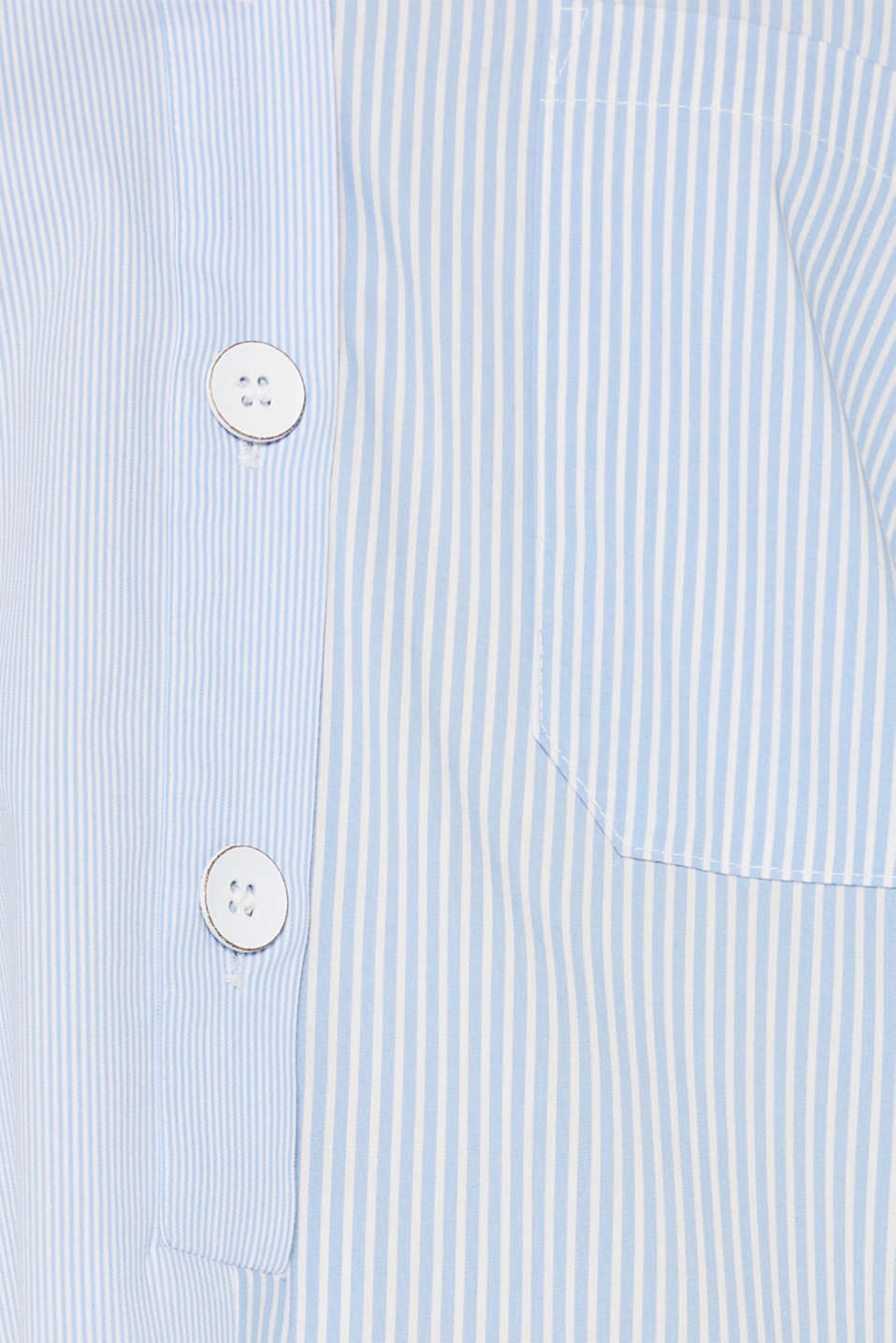 Oversized stretch blouse with mixed stripes, PASTEL BLUE, detail image number 4