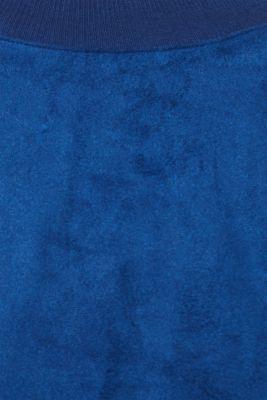 Short sweatshirt in faux suede, BRIGHT BLUE, detail