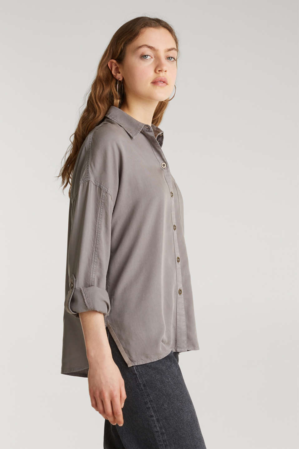 Blouses woven, MEDIUM GREY, detail image number 5