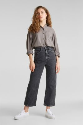 Adjustable shirt blouse, 100% lyocell, MEDIUM GREY, detail