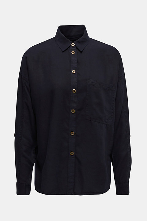 Adjustable shirt blouse, 100% lyocell