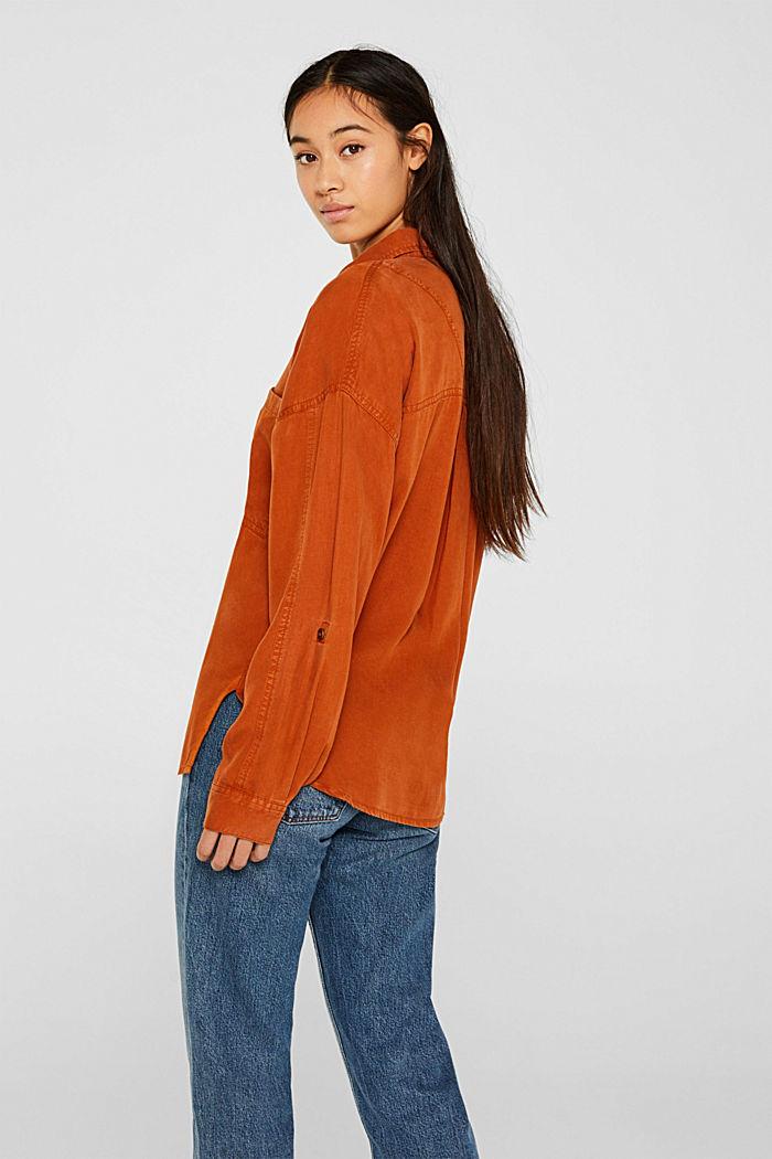 Adjustable shirt blouse, 100% lyocell, CINNAMON, detail image number 3