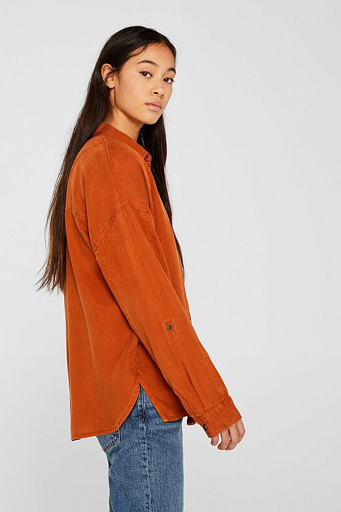 Adjustable shirt blouse, 100% lyocell, CINNAMON, detail image number 5