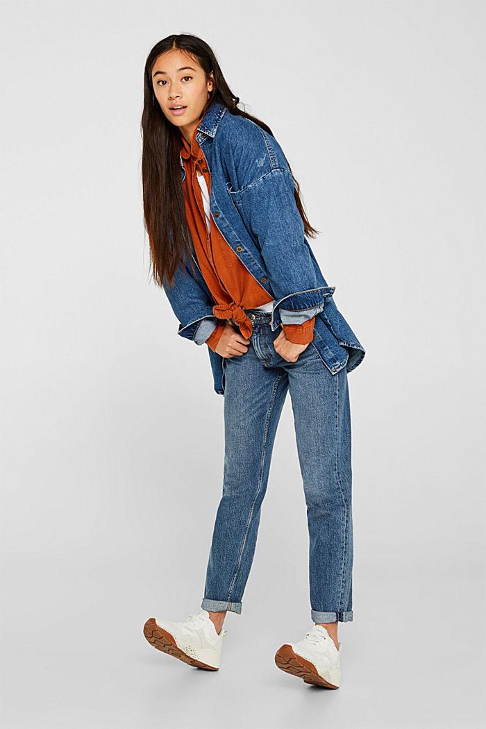 Adjustable shirt blouse, 100% lyocell, CINNAMON, detail image number 1