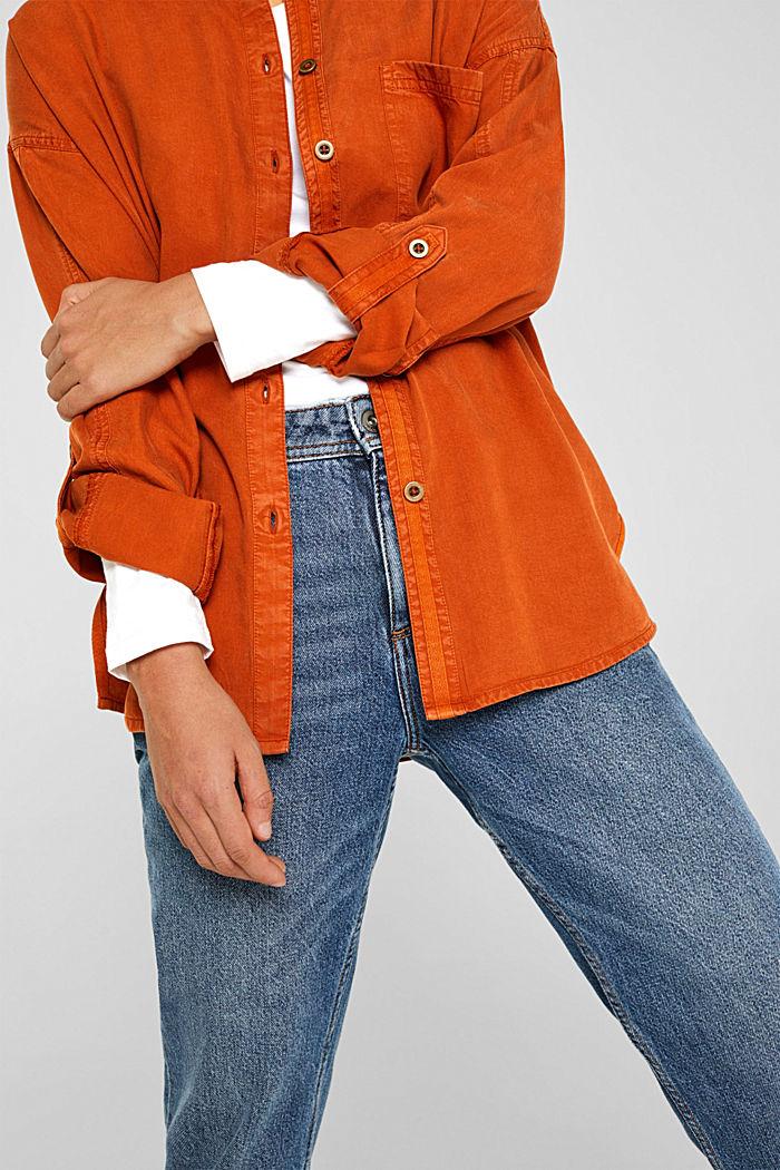 Adjustable shirt blouse, 100% lyocell, CINNAMON, detail image number 2