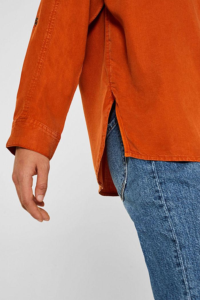 Adjustable shirt blouse, 100% lyocell, CINNAMON, detail image number 6