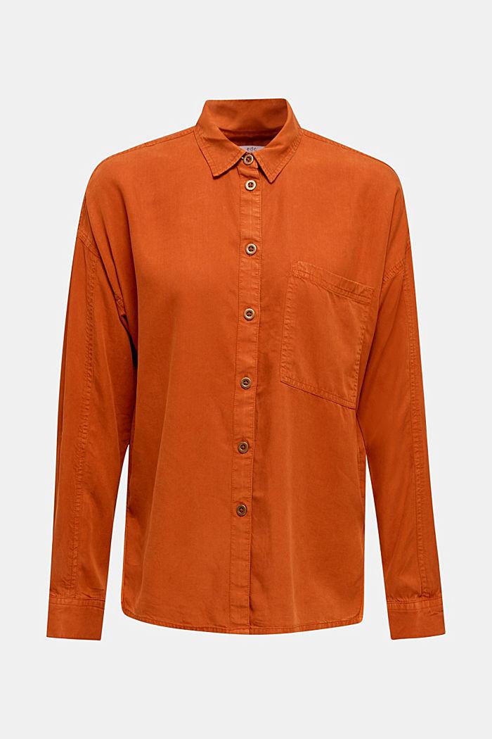 Adjustable shirt blouse, 100% lyocell, CINNAMON, detail image number 0