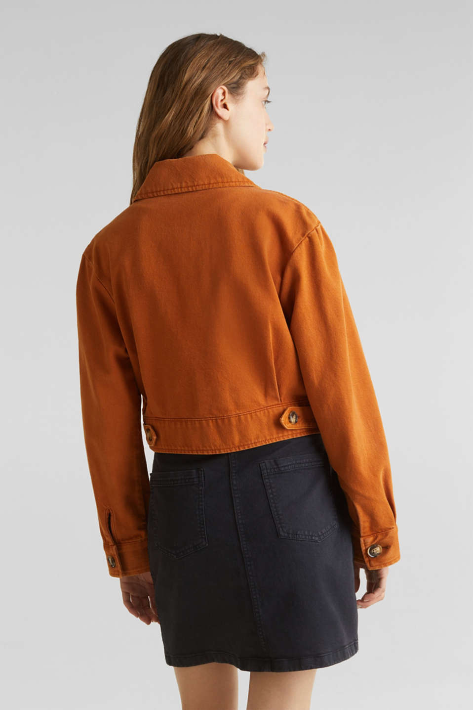 Short twill jacket with pockets, CINNAMON, detail image number 3