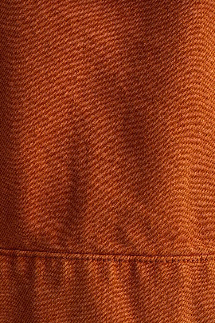 Kurze Twill-Jacke mit Taschen, CINNAMON, detail image number 4