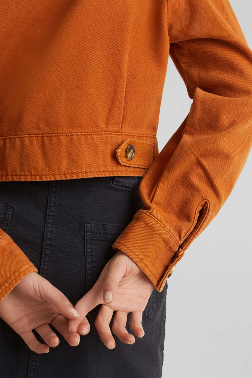 Short twill jacket with pockets, CINNAMON, detail image number 5
