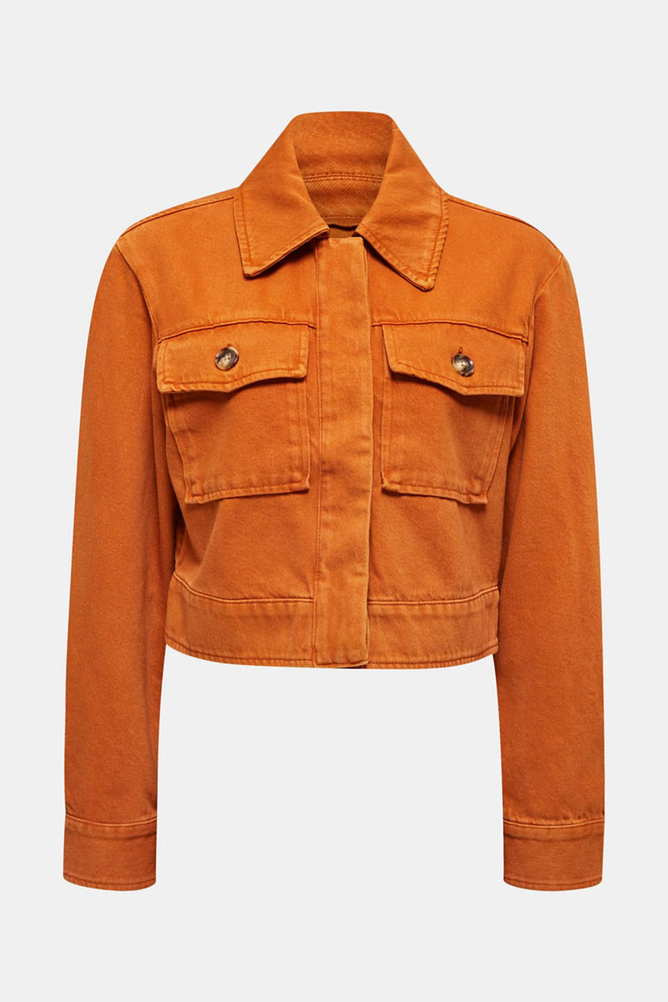Short twill jacket with pockets, CINNAMON, detail image number 8