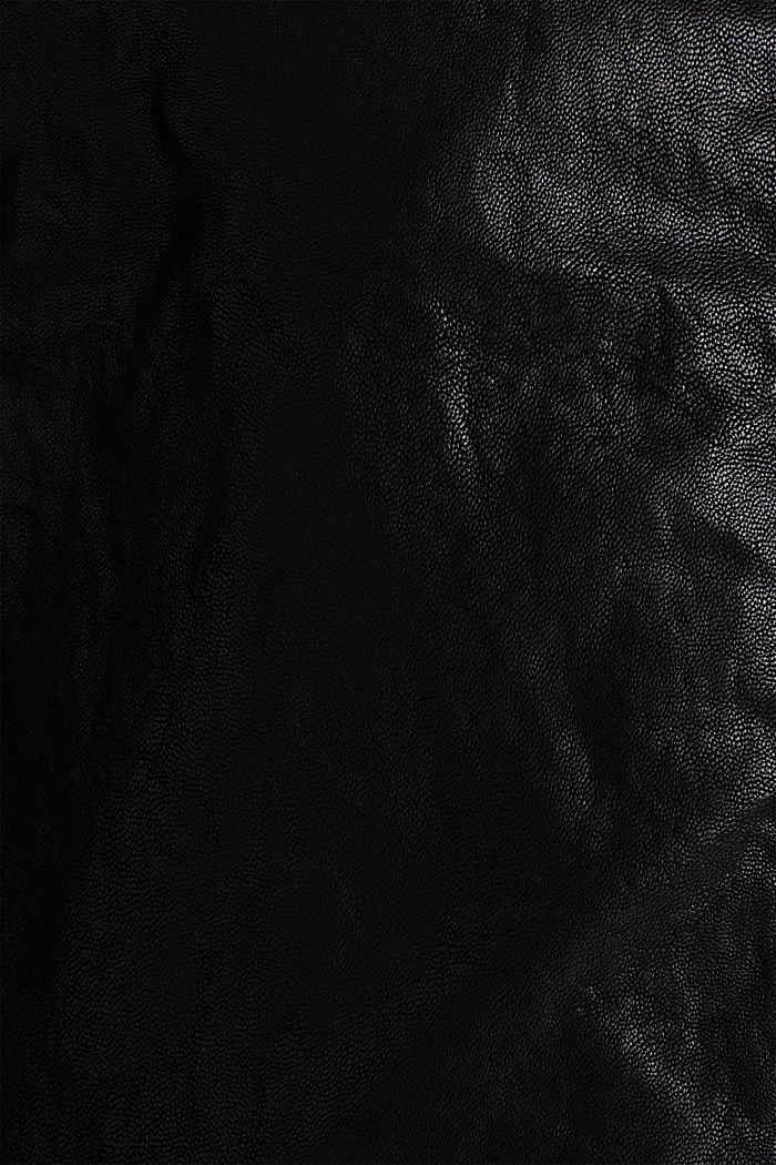 Biker jacket in shimmering faux leather, BLACK, detail image number 4