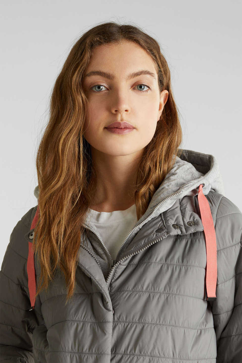 Two-in-one quilted jacket with an adjustable hood, GREY 5, detail image number 7