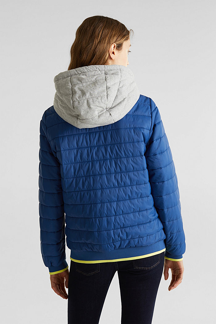 Two-in-one quilted jacket with an adjustable hood, DARK BLUE, detail image number 3