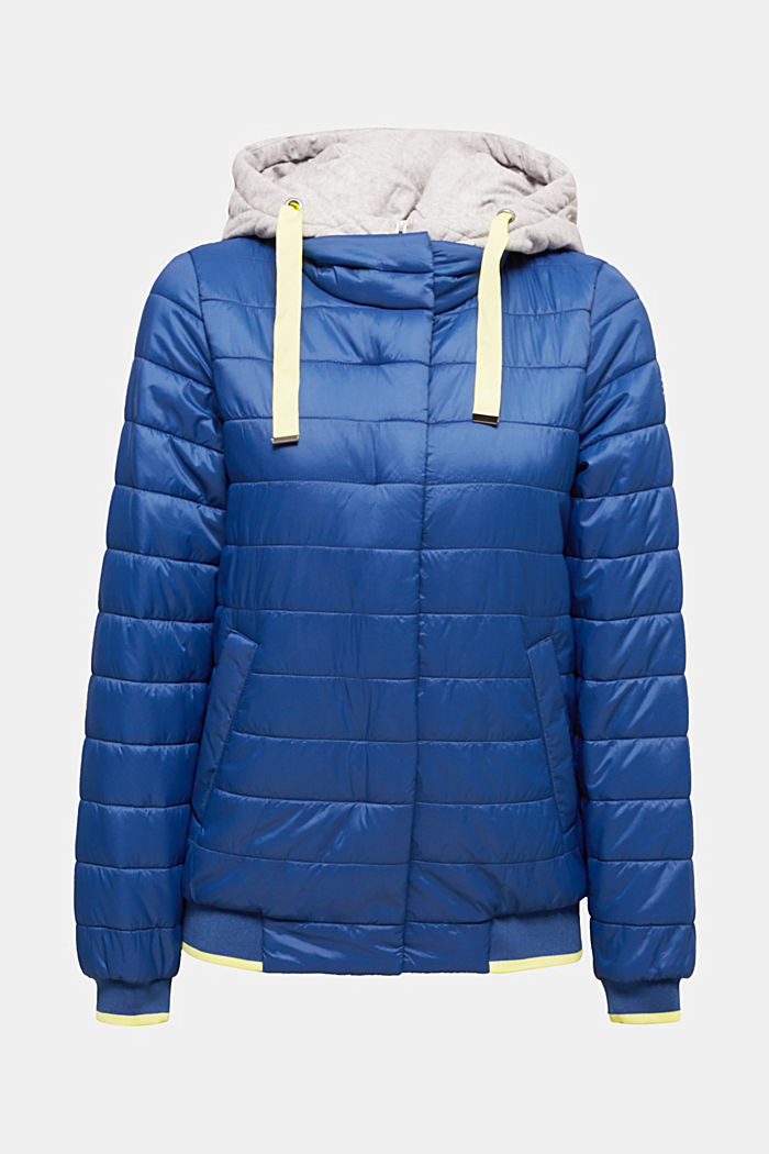 Two-in-one quilted jacket with an adjustable hood, DARK BLUE, detail image number 7