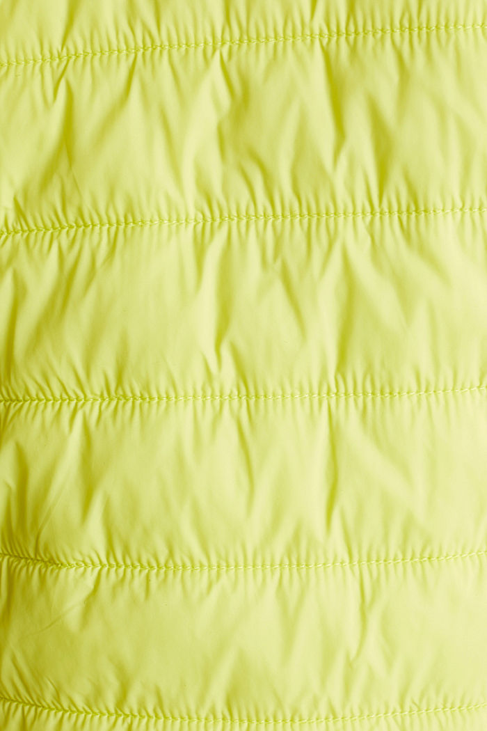Giacca impunturata 2 in 1 con cappuccio regolabile, LIME YELLOW, detail image number 4