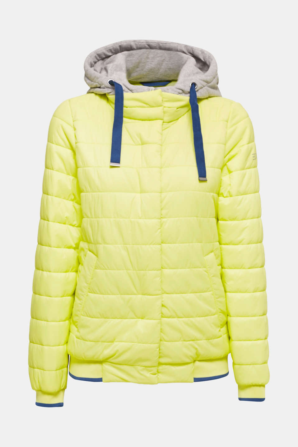 Two-in-one quilted jacket with an adjustable hood, LIME YELLOW, detail image number 7
