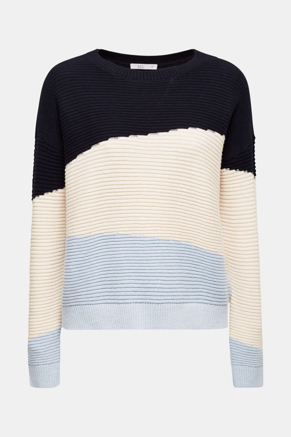 edc - Textured colour block jumper