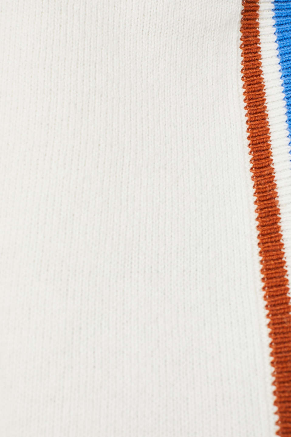 With wool: Stretch jumper with stripes, OFF WHITE 2, detail image number 4