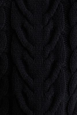 Cable knit jumper, BLACK, detail
