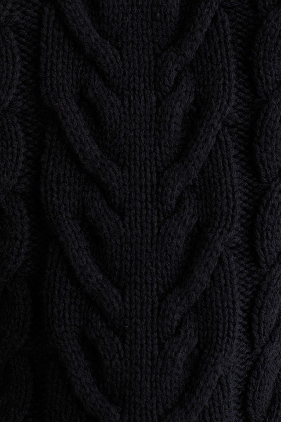 Cable knit jumper, BLACK, detail image number 4