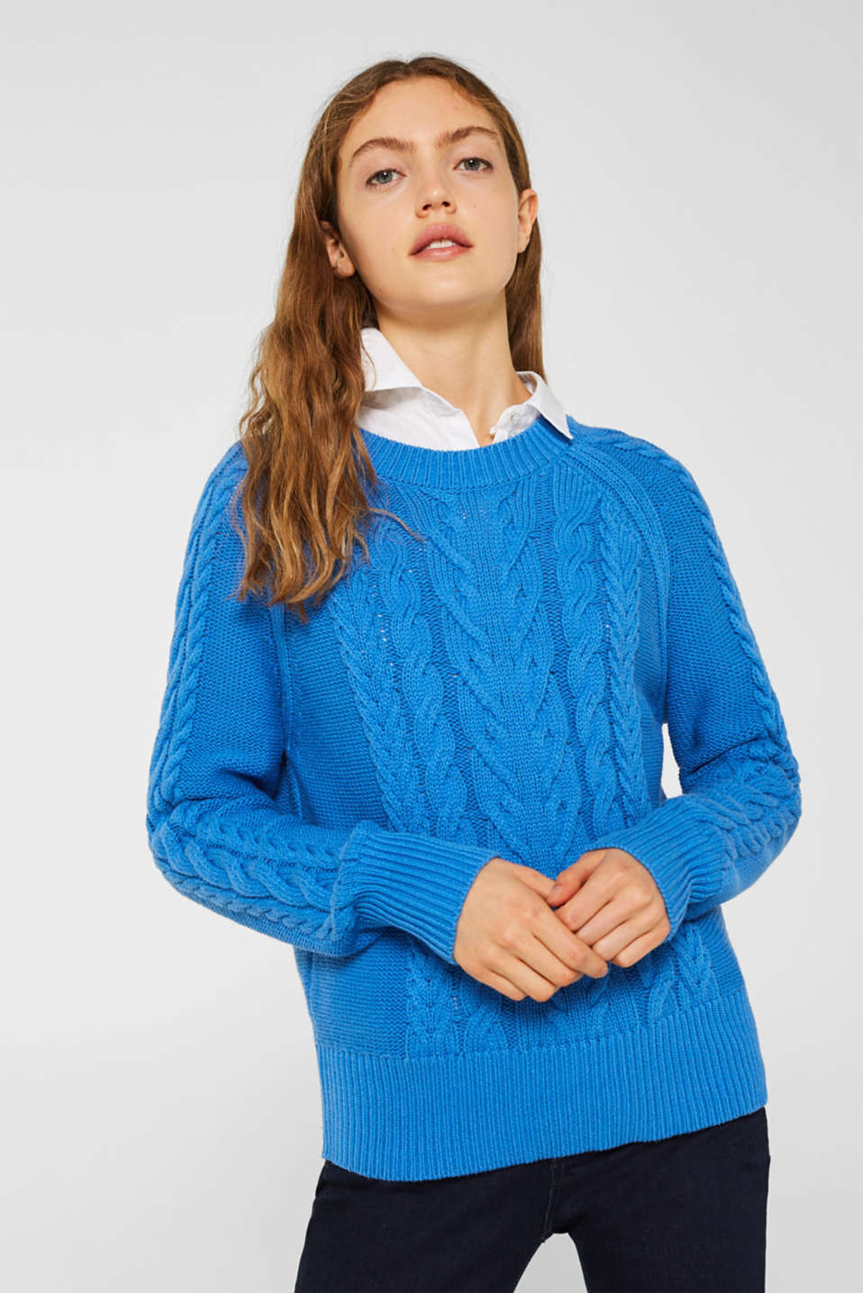 Sweaters, BRIGHT BLUE, detail image number 0