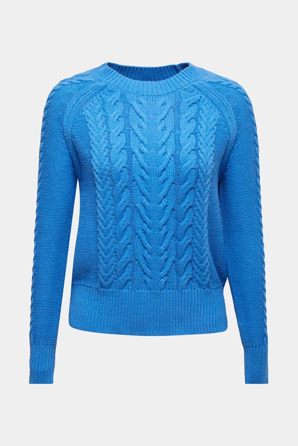 Sweaters, BRIGHT BLUE, detail image number 7