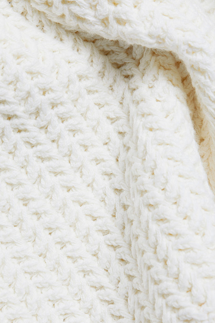 Boxy chunky knit jumper, OFF WHITE, detail image number 4