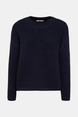 Boxy chunky knit jumper, DARK BLUE 2, detail