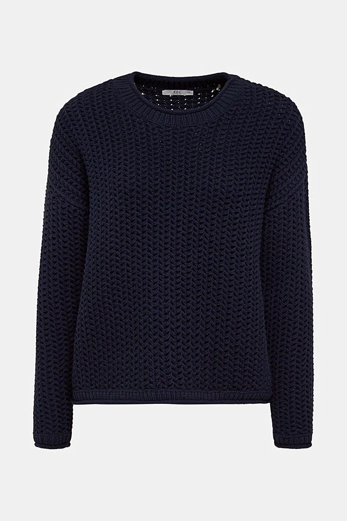 Kastiger Grobstrick-Pullover