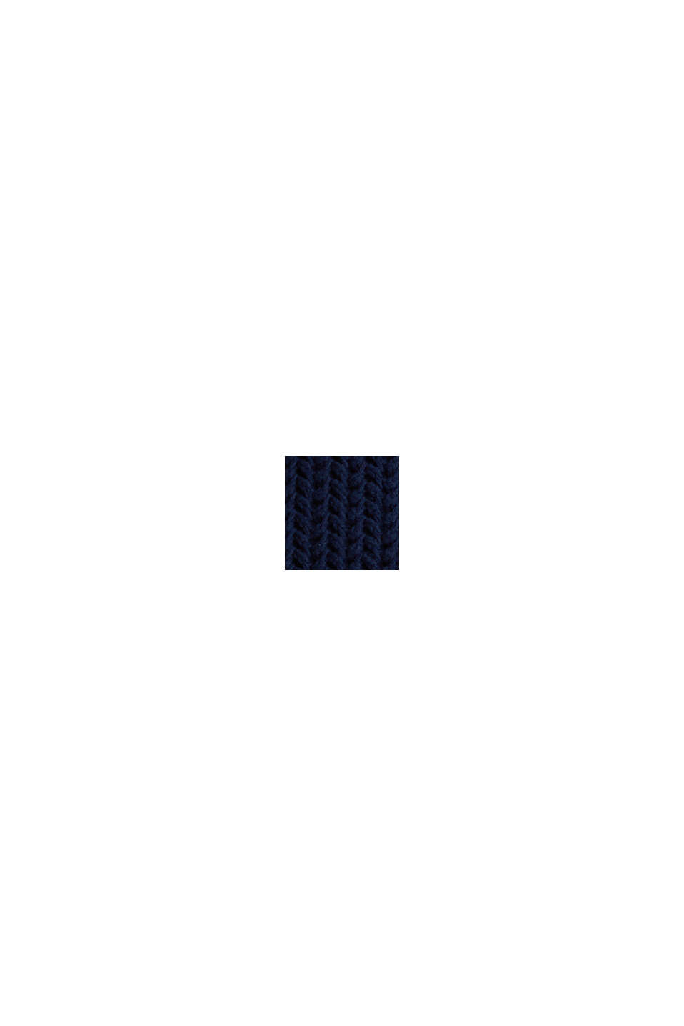 Pullover a maglia grossa squadrato, DARK BLUE, swatch