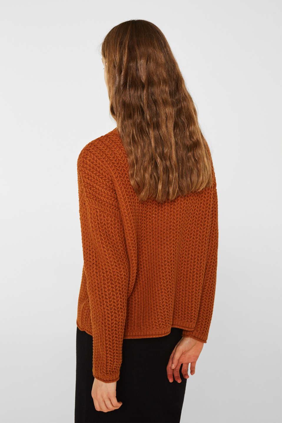 Sweaters, CINNAMON, detail image number 3