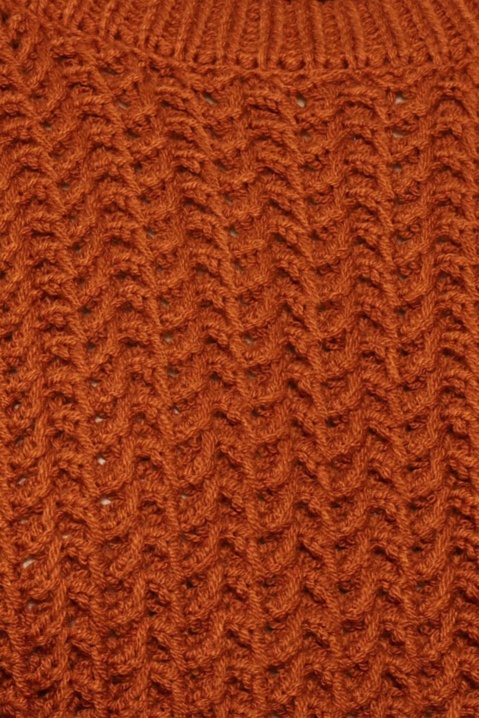 Sweaters, CINNAMON, detail image number 4