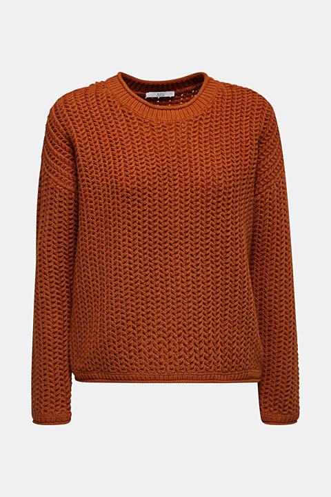 Boxy chunky knit jumper