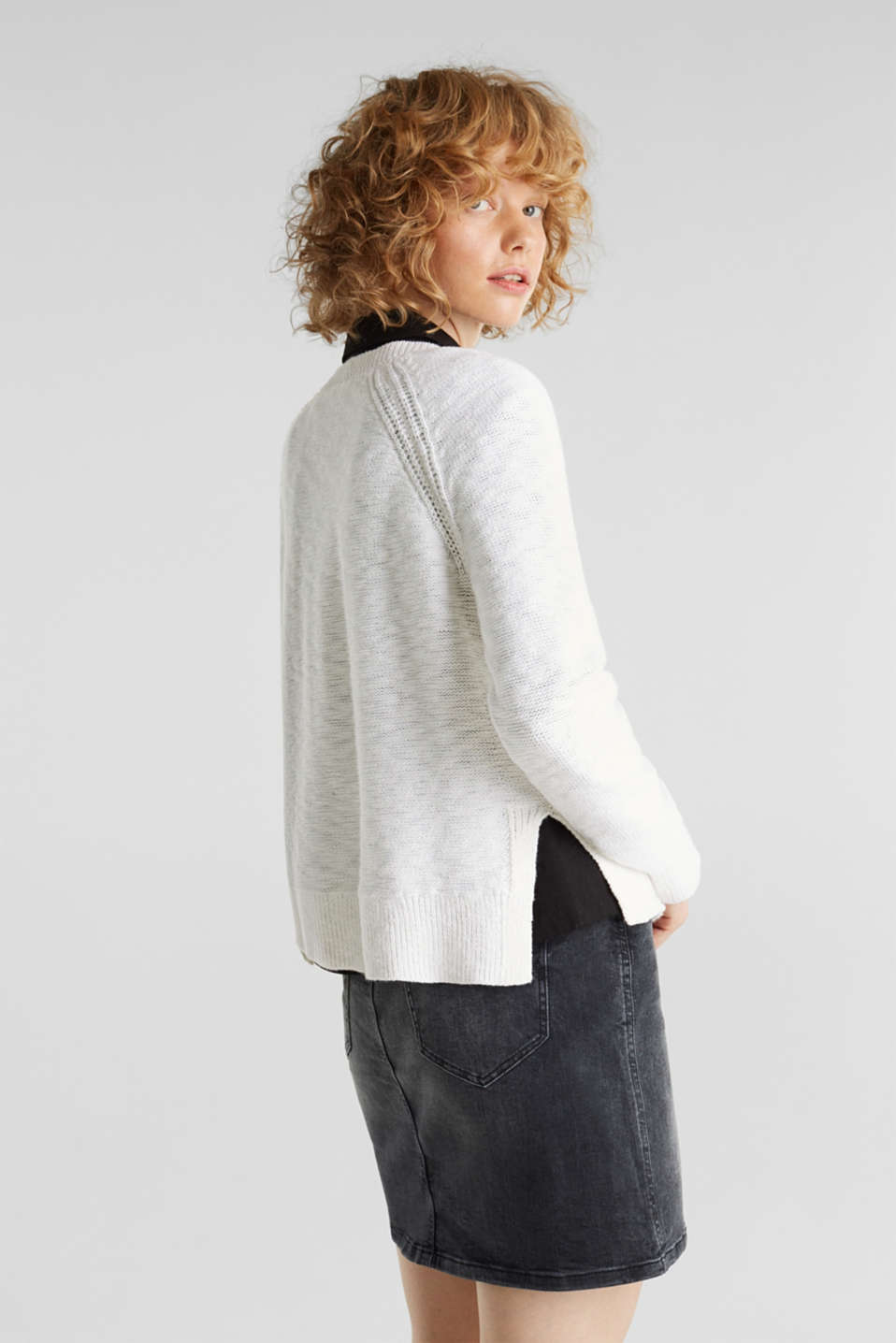 Sweaters, WHITE, detail image number 3