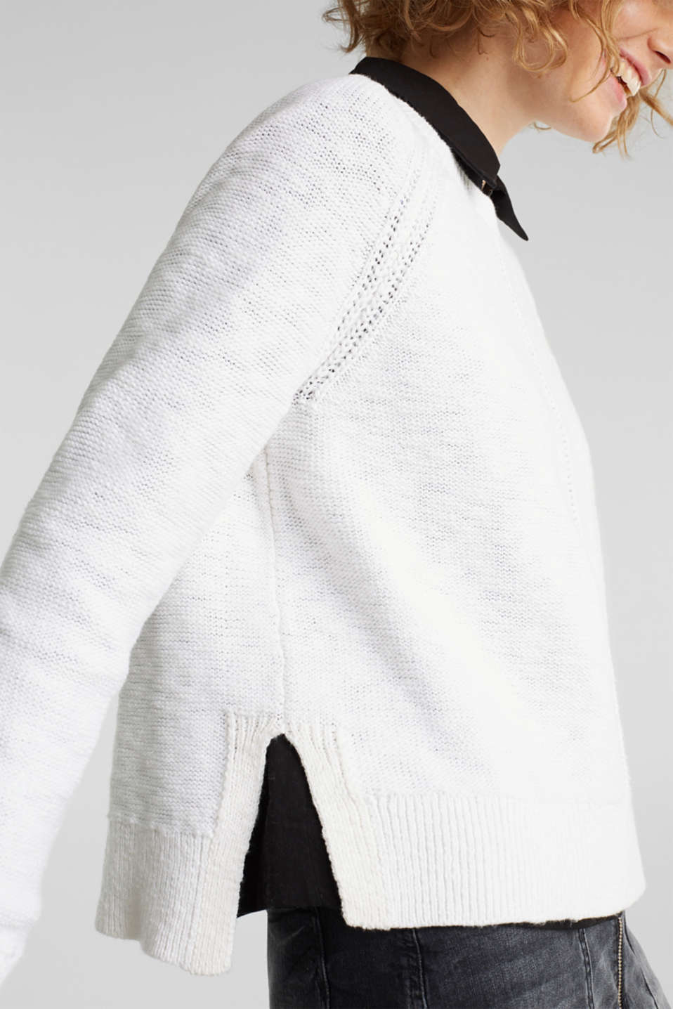 Sweaters, WHITE, detail image number 2