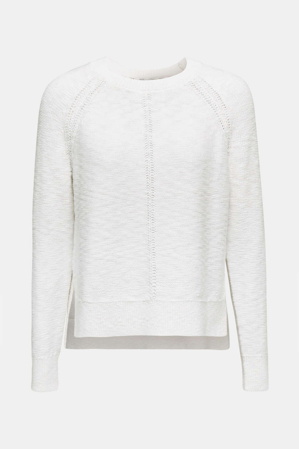 Sweaters, WHITE, detail image number 6
