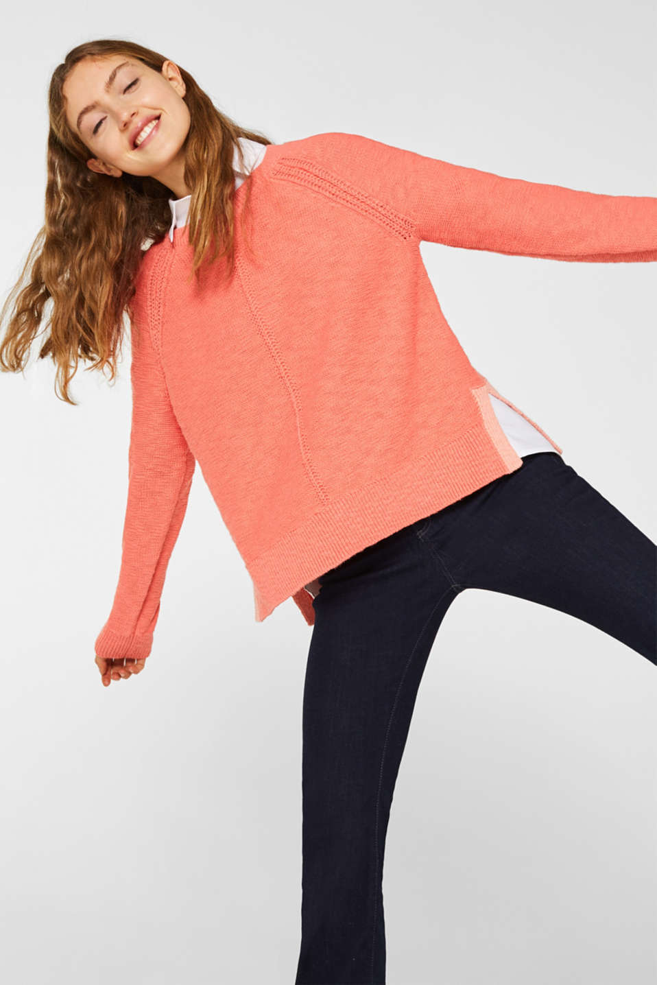 Sweaters, CORAL, detail image number 0