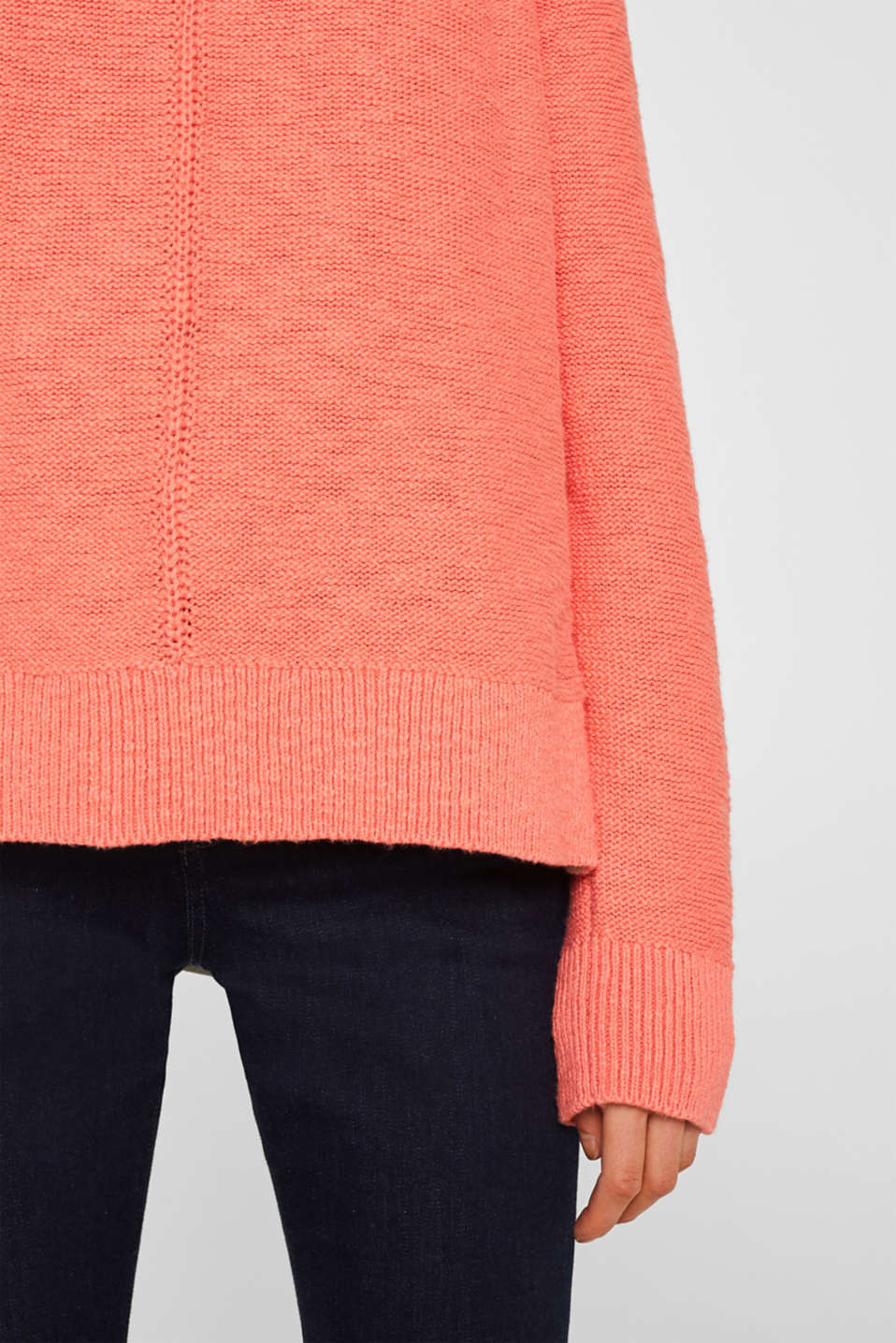 Sweaters, CORAL, detail image number 2