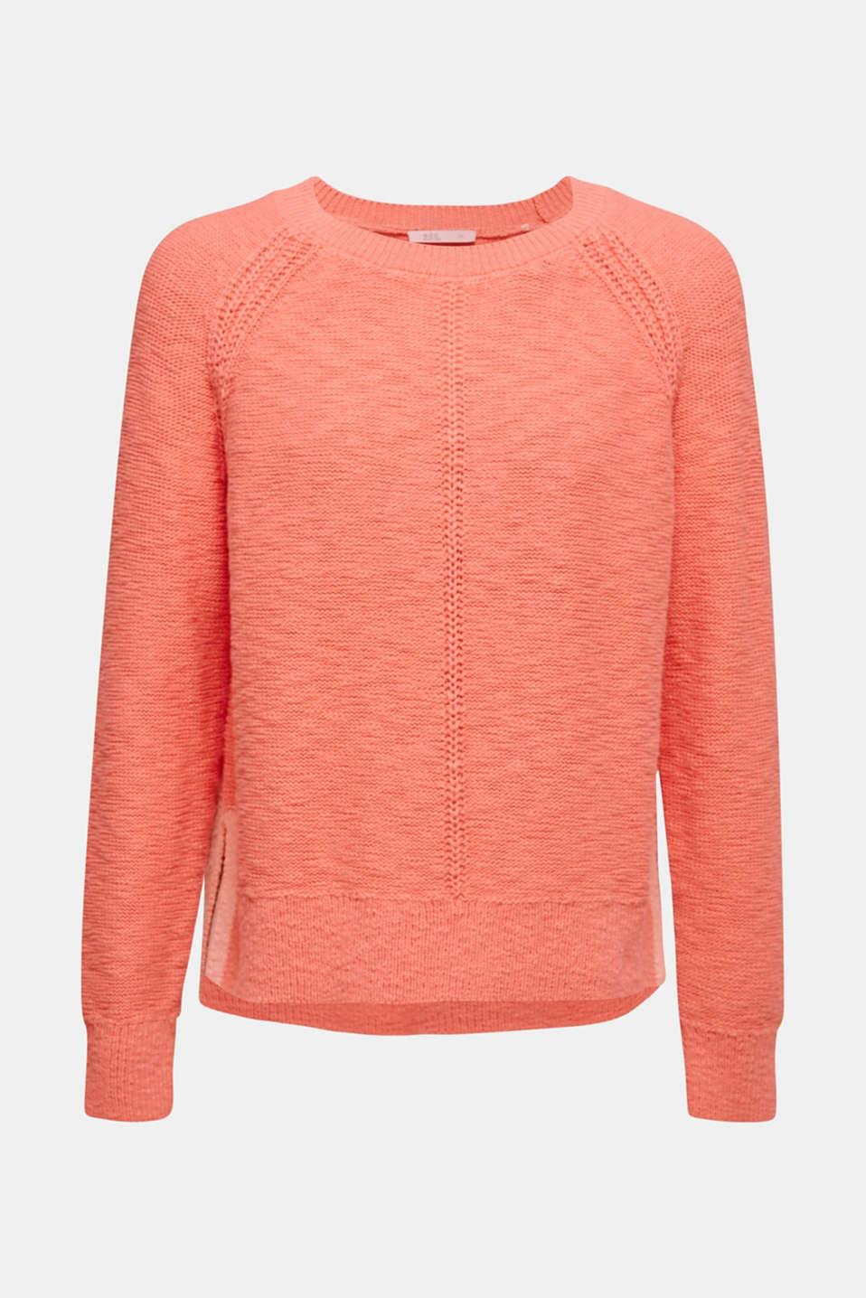 Sweaters, CORAL, detail image number 6